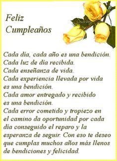 Happy Birthday Quotes In Spanish Frases Ideas Happy Birthday Celebration, Happy Birthday Wishes Cards, Birthday Wishes Quotes, Happy Wishes, Birthday Greeting Cards, Happy Birthday In Spanish, Happy Birthday Pictures, Birthday Images, Birthday Poems