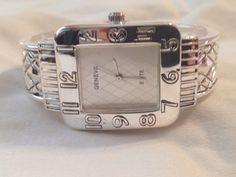 New  Geneva Silver Bangle Cuff Watch  #Geneva #Fashion