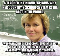 Why Finland's school system is the best in the world....