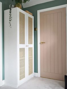 """Great Pics Rattan Cane IKEA Wardrobe DIY Hack For Under Concepts A """"concept"""" goes through the Sites and pages of this network world: Ikea Hacks. Ikea Wardrobe Hack, Wardrobe Makeover, Diy Wardrobe, Door Makeover, Wardrobe Doors, Wardrobe Design, Cupboard Makeover, Ikea Hack Bedroom, Wardrobe Storage"""