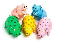 Multipet's 9-Inch Latex Polka Dot Globlet Pig Dog Toy, Assorted Colors Multi Pet http://www.amazon.com/dp/B002Z5I2AI/ref=cm_sw_r_pi_dp_1iVgub0RX8J76