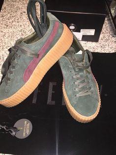 983e1f8a5369 Puma X Rihanna Suede Fenty Creepers Green Bordeaux Gum Women s Size 9.5