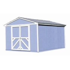 Handy Home Products Somerset 10 ft. x 14 ft. Wood Storage Building Kit-18414-7 at The Home Depot