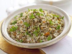 insalata-calda-di-riso-e-lenticchie immagine Fried Rice, Fries, Ethnic Recipes, Gnocchi, Cooking, Vegetarian, Diet, Kitchen, Stir Fry Rice