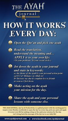 Ayah Journal, Quran Lessons, Following Allah's Guidance #ApplyTheQuran http://wiseprofessors.com/