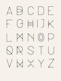 minimal line alphabet Calligraphy Fonts, Typography Letters, Graphic Design Typography, Fun Fonts Alphabet, Cute Letter Fonts, Cute Fonts, Script Fonts, Letras Cool, Inspiration Typographie