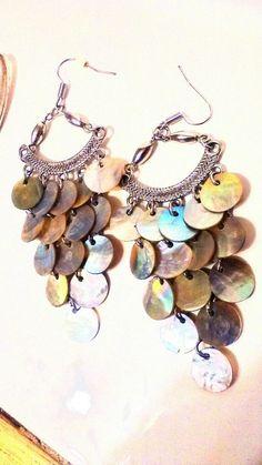 Beautiful Handmade Seashell Chandelier Dangle Earrings  #Handmade #DropDangle