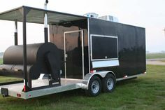 Outside of a barbecue trailer. Even the exhaust stacks look pretty on these models. Pull up with this, and turn some heads, ans people marvel at the quality of your trailer, and how simple but efficient the floor plan is.
