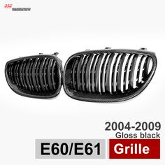 e60 car tuning exterior body parts carbon fiber black bumper grill for bmw 2004 2009 5 series sedan tourer great fitment