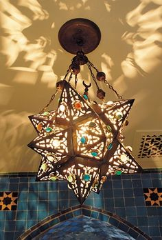Might Work In A High Ceilinged Foyer Moravian Star Light Fixture