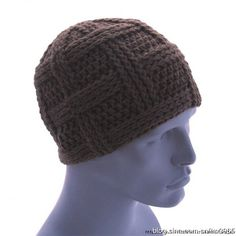 No pattern unfortunately...if you knwo chinese and can translate...please do! attractive Men's Crochet Hat Diagram ~ 男士钩针帽