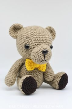 Crochet Amigurumi Woodland Baby Bear