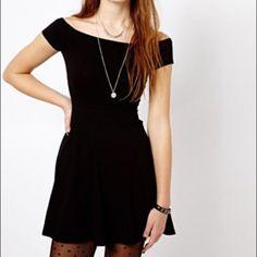 Brand New Off The Shoulder Black Dress