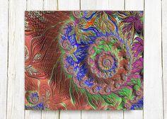 Canvas Gallery Wrap  GARDEN DREAM fractal by BonnieBruno on Etsy