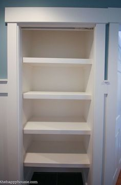 How To Replace Wire Shelves With DIY Custom Wood Shelves   The Happy Housie