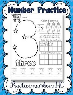 This is a great way to give kids extra practice with numbers 1-10. These worksheets encourage number identification, number writing, and counting. ♥ You might also like: Kindergarten Math Journals All Year