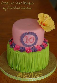 Luau cake Cake for uncle #cupcake #dessert