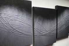 The Silver Touch - Triptych...that means 3 piece on canvas. Abstract art for interior design.   www.mendo.com.au