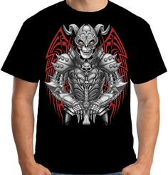 Velocitee Mens Dead Knight T Shirt Death Gothic Horror Skull Reaper S3702 #Velocitee