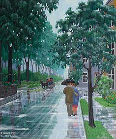Rémi Clark, 'Aux couleurs de la pluie', 30'' x 36'' | Galerie d'art - Au P'tit Bonheur - Art Gallery