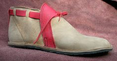 Leather Handmade Shoes  Tan Beige Off White w/ Red by thoseshoes, $160.00  I love these look at this man work they are awesome