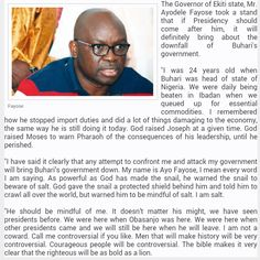 ACKCITY News: President Buhari's govt will collapse if I face tr...