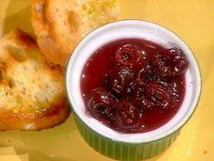 Spuma di Mortadella con Salsa di Ciliegie: Pork Foam with Cherry Sauce from CookingChannelTV.com