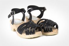 Welcome to Maguba's official webstore. Check out our wide selection of high heel clogs for women and Swedish clog sandals. Heeled Clogs Sandals, Gladiator Sandals, Swedish Clogs, Low Heels, Get Dressed, What To Wear, Black Leather, Wedges, Comfy