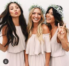 cute bridesmaid hair ideas, basic crowns so yours is ~da best~ but they still cute too (also think bb breath is cheap)