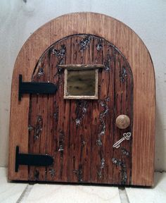 Free pattern for fairy door doors http www for Fairy door pattern