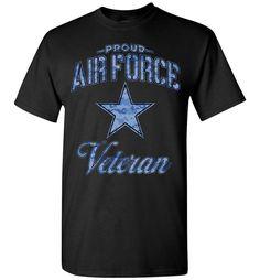 Proud Air Force Veteran T-Shirt (Camo)