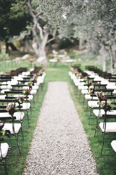 inspiration   lawn seating for your outdoor wedding ceremony   via: lisa poggi photography