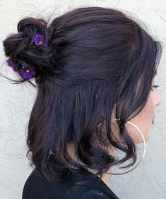 Formal Hairstyles Most Impressive Half Updo Short Black Hairstyles 2020 That are Truly Beautiful Cute Hairstyles For Medium Hair, Chic Hairstyles, Short Black Hairstyles, Formal Hairstyles, Hairstyles With Bangs, Medium Hair Styles, Curly Hair Styles, Gorgeous Hairstyles, Fringe Hairstyles
