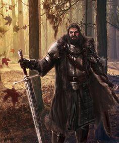 Lord Rickard Stark: Amazing ASOIAF Illustration by Mike-Hallstein