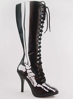 X-Ray Glow Bones Boots #skeleton #halloween #costume
