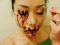 """See No Evil, Speak No Evil, Hear No Evil"" Halloween makeup. Halloween Horror, Halloween Fun, Halloween Costumes, Halloween Face Makeup, Costume Makeup, Sfx Makeup, Zombie Makeup, Monster Makeup, Horror Makeup"