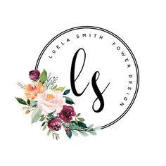Creative Names Business, Logos Photography, Photography Packaging, Logo Boutique, Cake Logo, Watercolor Logo, Round Logo, Flower Logo, Pin Logo