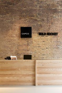 Brick wall D+DS architecture office, Tom Fallon · Capco / Bold Rocket Offices Industrial Office Design, Industrial Architecture, Architecture Office, Industrial Loft, Industrial Living, Vintage Industrial, Industrial Bookshelf, Industrial Windows, Kitchen Industrial