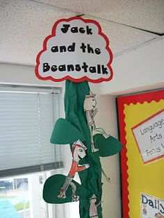 Today, we read the story Jack and The Beanstalk. After reading it, we focused on the characters, setting, problem, and soloution. To finish the lesson, the kids did a directed drawing of Jack. Once completed, we added all of our Jack's to the beanstalk.