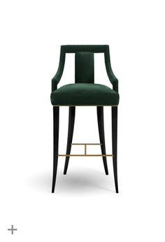EANDA Bar Chair, @BRABBU, cotton velvet, ebony, design piece, cozy, elegant, www.brabbu.com