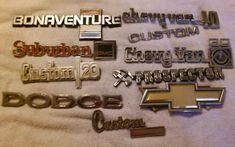 Vintage Lot Metal/Plastic old car auto emblems hot rod rat rod custom #2