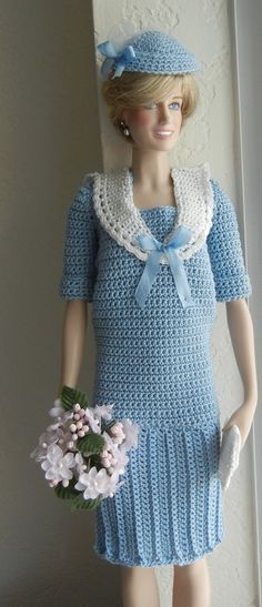 Crochet pattern PDF for 16inch fashion doll by PrincessOfCrochet - I love this outfit!  Hoping to crochet it for Barbie.