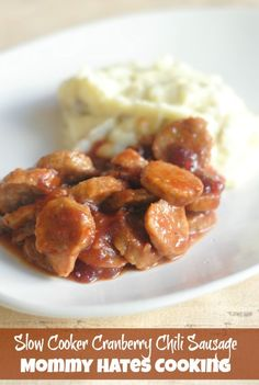 Slow Cooker Cranberry Chili Sausage I Mommy Hates Cooking