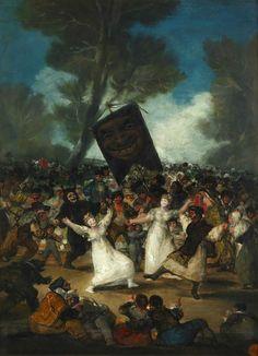 """""""El entierro de la sardina""""  (1812-19)  Francisco de Goya"""