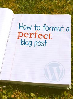 How to format a perfect #blog post using WordPress.