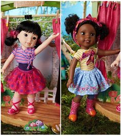 Wellie Wishers, a new doll line from American Girl aimed for younger girls ages The Wellie Wishers line goes on sale June American Girl Outfits, New American Girl Doll, Doll Clothes Patterns, Clothing Patterns, American Girl Wellie Wishers, Wellie Wishers Dolls, Bitty Baby, New Dolls, Doll Crafts