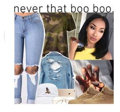 """"""" 3:25  """" by trap-u-n-z-e-l ❤ liked on Polyvore featuring Valentino, High Heels Suicide and NIKE"""