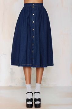 Sienna Denim Skirt - Skirts