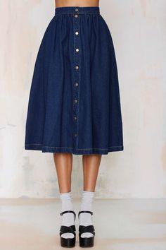 Sienna Denim Skirt - Skirts