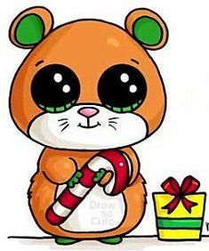 Kawaii Girl Drawings, Cute Animal Drawings Kawaii, Cute Little Drawings, Disney Drawings, Cartoon Drawings, Easy Drawings, Anime Kawaii, Kawaii Art, Cute Kawaii Girl